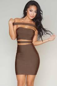 rochii de club ban370 88 rochie tip bandage cu umerii goi si model decupat