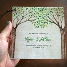 print your own wedding programs print your own wedding programs with a tree theme weddings