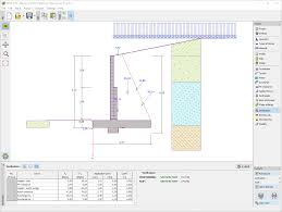 masonry wall geotechnical software geo5 fine
