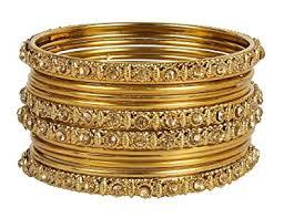 gold vintage bracelet images Buy muchmore 18k gold plated set of 12 antique look bangles for jpg