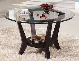 Plans For Round End Table by Cherry Coffee Table U0026 End Tables 3pc Set W Clear Glass Top
