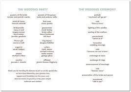 wedding party program best photos of proper wedding program wording wedding