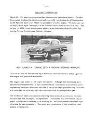 history of chrysler corporation gas turbine vehicles
