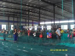 pe material aquaculture fish farming cages green color fishnet
