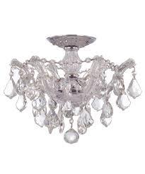 crystal semi flush mount lighting crystorama 4430 maria theresa 14 inch wide semi flush mount