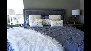 grey master bedroom house tour 50 shades of grey master bedroom u0026 guest room youtube