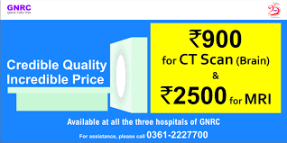 now ct scan brain costs only rs 900 and mri only rs 2500 at gnrc
