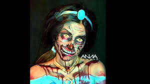 princess jasmine halloween a zombie face paint attempt at disney u0027s princess jasmine youtube