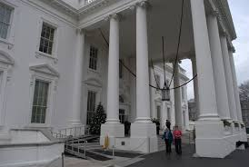 north front of the white house at christmas michelle obama