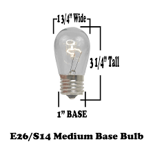 Commercial Grade Patio Light String by 48 Foot S14 Edison Outdoor String Lights Suspended Socket String