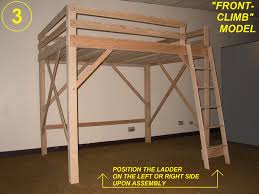 Free Loft Bed Plans Twin by Loft Bed Twin Full Queen King U0026 Extra Long Loft Beds Bunk Bed