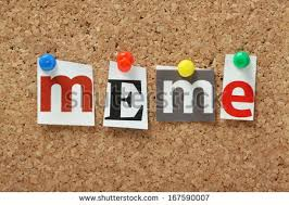 Meme Letters - word meme magazine letters pinned cork stock photo royalty free