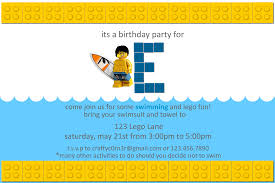how to make pool party invitations lego party invitations u2013 gangcraft net