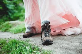 Decorated Walking Boot Greta And Frank U0027s Handmade Yorkshire Wedding With Walking Boots