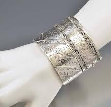 antique sterling silver cuff bracelet images Wide silver engraved antique victorian cuff bracelet boylerpf jpg