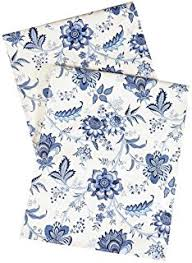 blue and white table runner amazon com table runners 90 blue and white table runner floral