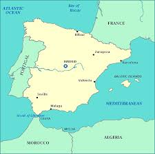 spain on a map map of spain spain map showing cities rivers and nearby portugal