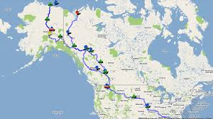 Alaska Road Map by A Ride To The Arctic And Back Our Route