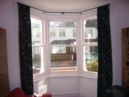 Curtain Railing Designs Simple But Adorable Bay Window Curtains Designs