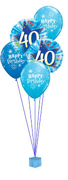 30th birthday balloon delivery blue 40th birthday balloon bouquet party fever