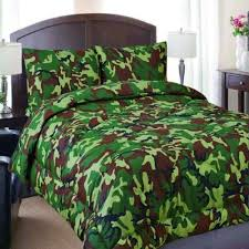 Army Bed Set Regal Comfort Size Green Army Camouflage Camo Comforter