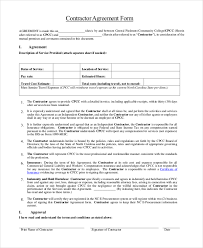 sample contract agreements sample of conditions of sub contract