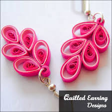 quilling earrings tutorial pdf free download have to try these with red and black combo fashion inspiration