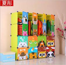 Closet Storage Cabinets Aliexpress Com Buy 16 Cubes Children U0027s Cartoon Wardrobe Closet