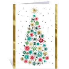 colorful tree greeting cards