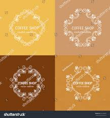 vector floral outline frames borders abstract stock vector