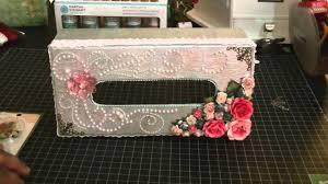 decorative tissue box altered tissue box