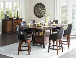 counter height dining table with swivel chairs bayshore 7pc walnut wood leaf counter height dining set swivel chairs