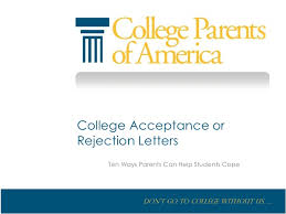 college acceptance or rejection letter ten ways parents can help stu u2026
