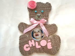 cadre ourson chambre bébé tutoriel cadre photo en bébé femme2decotv