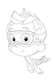 free bubble guppies coloring pages nonny is floating past coloring page free printable coloring pages