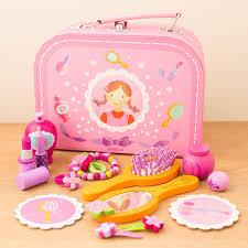 Vanity Playset Personalised Wooden Vanity Set Kids Playtime Beauty Case Set