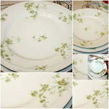 antique french haviland limoges green harrison rose porcelain