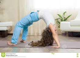 Livingroom Yoga Happy Kid Doing Yoga At Home Stock Photo Image 74187702