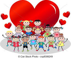 valentines day kids eps vectors of happy valentines day or birthday