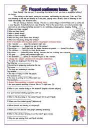present continuous tense worksheet by melis