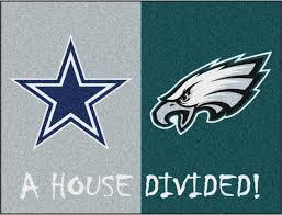 nfl dallas cowboys philadelphia eagles house divided rugs 34x45