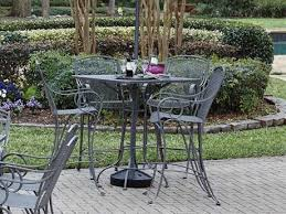 Woodard Wrought Iron Patio Furniture Woodard Modesto Wrought Iron Dining Set Gccds