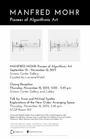 scgp gallery closing reception u2013 manfred mohr pioneer of