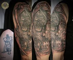 viking ship cover up by 2face tattoo on deviantart