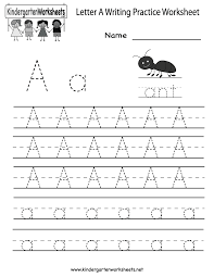 kindergarten letter a writing practice worksheet printable a is