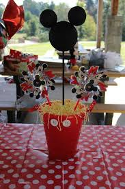 mickey mouse centerpieces mickey mouse themed birthday party eventfully