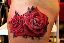 red scarification rose flower tattoo design idea golfian com
