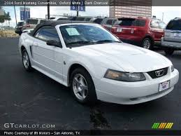 2004 white mustang convertible oxford white 2004 ford mustang convertible charcoal