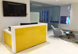 Glass Reception Desk Custom Designs Arnold Contract