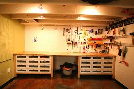 Work Bench With Storage Ikea Hack Using Kitchen Cabinets And Counter Tops In The Garage